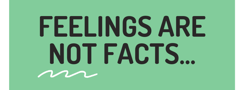 Feelings are not facts...